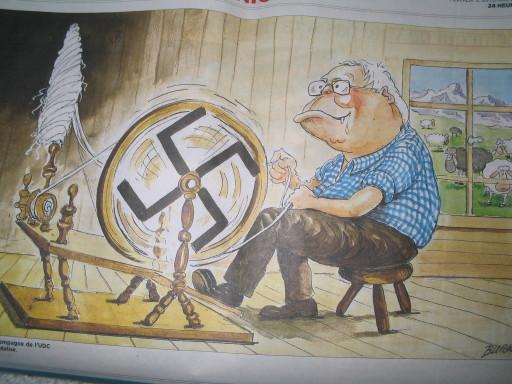 Karikatur Bürki in 24 heures, sept. 07