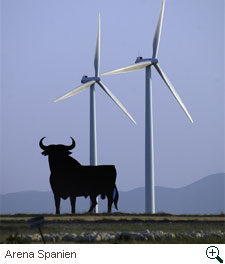 """Windenergie Spanien, Foto """"Die Zeit"""""""