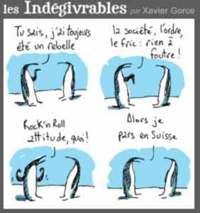 Karukatur aus Le Monde elctronique