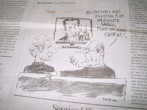 Chirac und deVillepin (Le Monde)