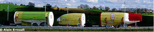 Airbus 380 Transport im Gers