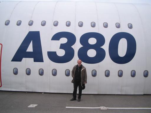 A 380 und Möchtegernpilot