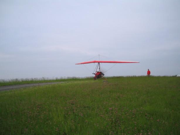 Start auf dem Feld, mit dem Wind...