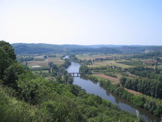 Blick von Domme auf die Dordogne
