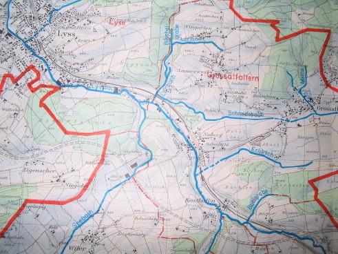 Lyssbach und Zuflüsse